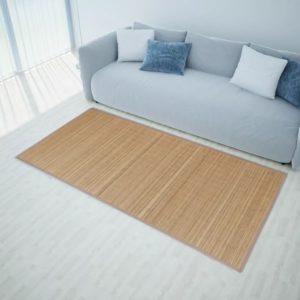Ristkülikukujuline pruun bambusvaip 80 x 200 cm