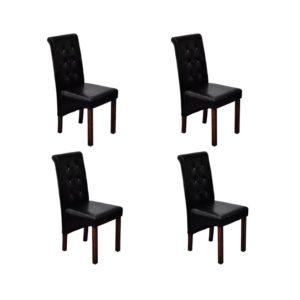 Söögitoa toolid 4 tk antiikne must