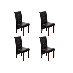 Söögitoa toolid 4 tk antiikne pruun