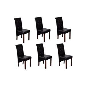 Söögitoa toolid 6 tk antiikne must
