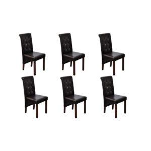 Söögitoa toolid 6 tk antiikne pruun