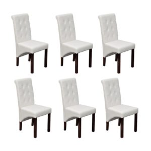 Söögitoa toolid 6 tk antiikne valge