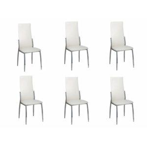 Söögitoa toolid 6 tk kroom valge kunstnahk