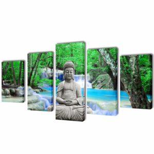 Seinamaalikomplekt lõuendil Buddha