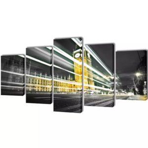 Seinamaalikomplekt lõuendil London Bin Ben
