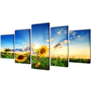Seinamaalikomplekt päevalilledega