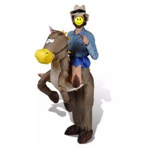 Täispuhutav kauboi ja hobuse kostüüm