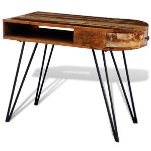 Taaskasutatud puidust laud rauast jalgadega