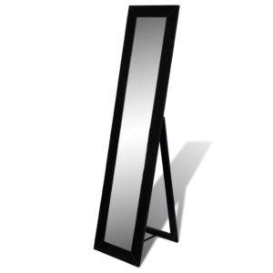 Vabaltseisev täispikkuses peegel kandiline must