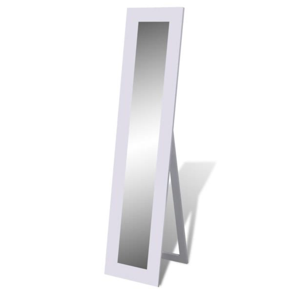 Vabaltseisev täispikkuses peegel kandiline valge