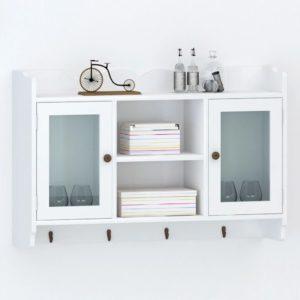 Valge MDFist seinasektsioon/riiul raamatutele/DVD-dele/klaasidele