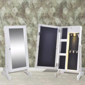 Valge ehtelaegas LED-tule ja peegliga
