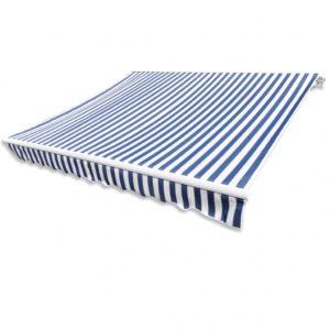 Varikatus 6 x 3 m sinine/valge (ilma raamita)