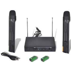 Vastuvõtja + 2 juhtmeta VHF mikrofoni