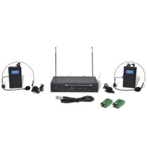 Vastuvõtja + 2 juhtmeta VHF peakomplekti