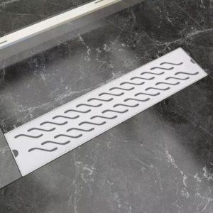 VidaXLi duši äravoolusüsteem laineline 530 x 140mm roostevaba teras