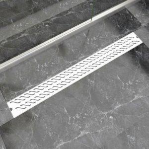 VidaXLi lineaarne duši äravoolusüsteem 1030 x 140 mm roostevaba teras