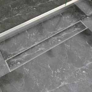 VidaXLi lineaarne duši äravoolusüsteem 830 x 140 mm roostevaba teras