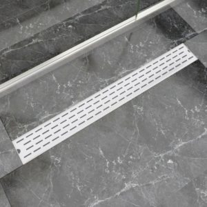 VidaXLi lineaarne duši äravoolusüsteem 930 x 140 mm roostevaba teras