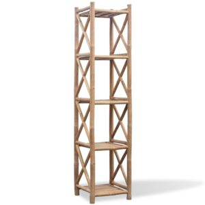 Viiekorruseline bambusest riiul