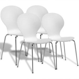 Virnastatavad toolid valged 4 tk