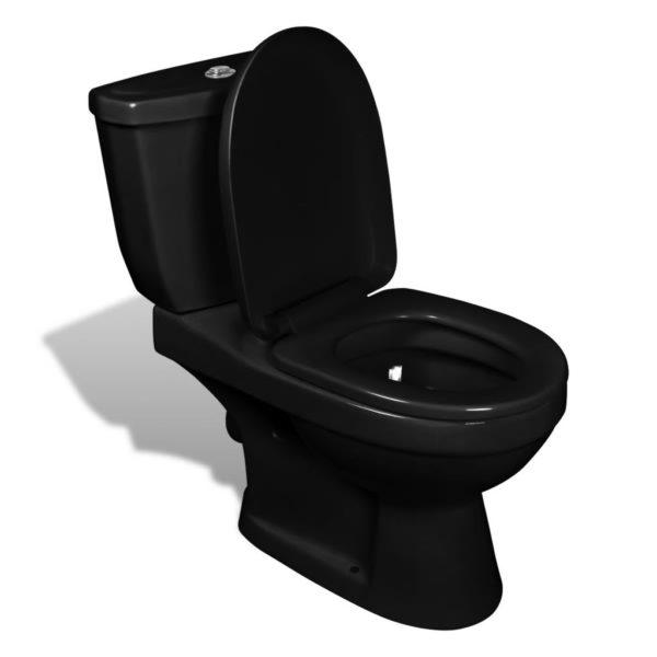 WC pott loputuskastiga must