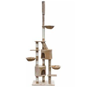 XL kasside kraapimispuu 230-260 cm beež plüüs