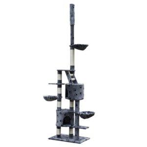 XL kasside kraapimispuu 230-260 cm hall käpajälgedega