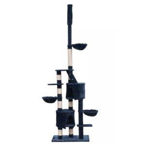 XL kasside kraapimispuu 230-260 cm tumesinine plüüs