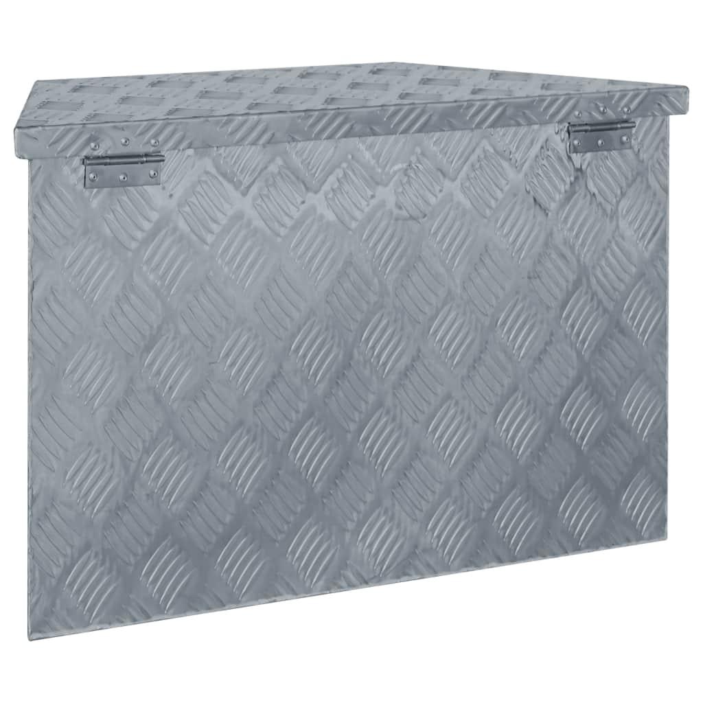 Alumiiniumist Kast 70 X 24 X 42 Cm Trapetsikujuline Hõbedane Juniikee
