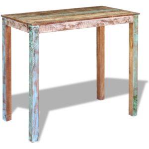 baarilaud taastatud puidust 115 x 60 x 107 cm