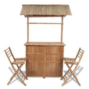 bambusest aia baarilett + 2 tooli