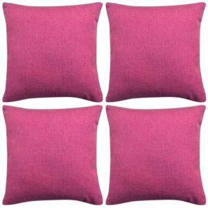 diivanipatjade katted 4 tk linasesarnane roosa 40 x 40 cm