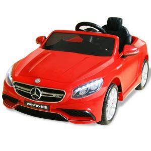 elektriline pealeistutav auto Mercedes Benz AMG S63 punane 12 V