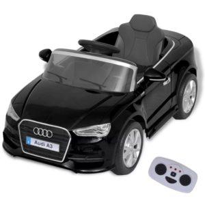 elektriline pealeistutav puldiga auto Audi A3 must