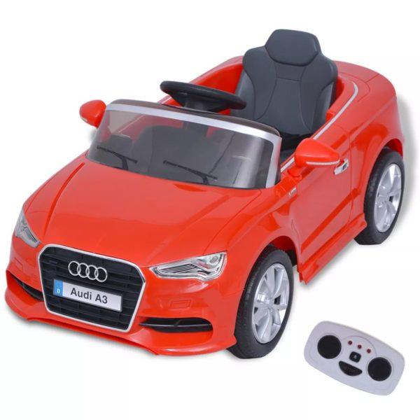 elektriline pealeistutav puldiga auto Audi A3 punane
