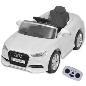 elektriline pealeistutav puldiga auto Audi A3 valge