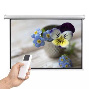 elektriline projektoriekraan puldiga 160 x 90 cm 16:9