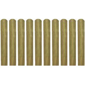 immutatud aialipp 10 tk 60 cm puidust