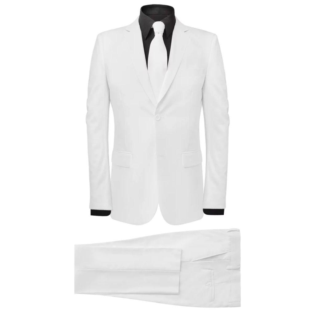 7573a7864b4 kaheosaline meeste ülikond lipsuga, valge, suurus 46 - JUNIIK.EE