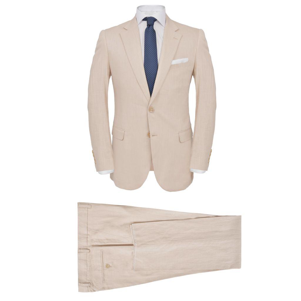 c6b6e82ae09 kaheosaline meeste linane ülikond, suurus 46, beež - JUNIIK.EE