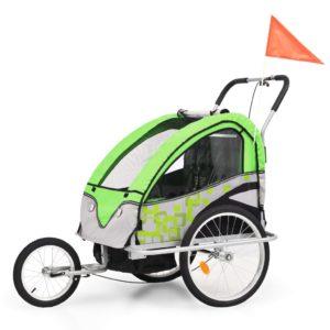 kaks ühes laste ratta järelkäru ja jalutuskäru