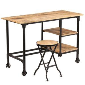 kirjutuslauaga laud toekast mangopuidust 115 x 50 x 76 cm