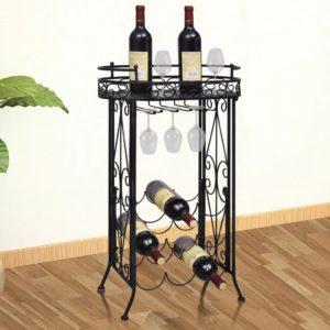 klaasikonksudega veiniriiul 9 pudelile