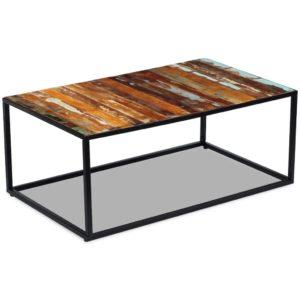 kohvilaud taastatud puidust 100 x 60 x 40 cm