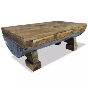 kohvilaud taastatud puidust 90 x 50 x 35 cm