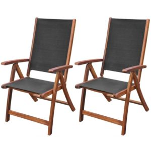 kokkupandavad toolid 2 tk akaatsiast must