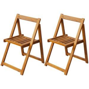 kokkupandavad toolid aeda 2 tk akaatsiapuu