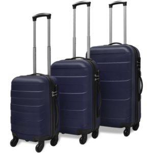 kolmeosaline kõvakattega kohvrite komplekt sinine