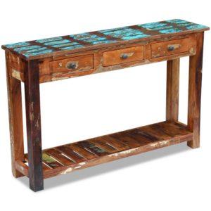 konsoollaud taastatud puidust 120 x 30 x 76 cm
